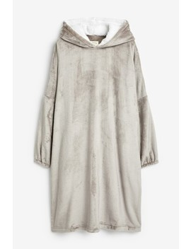 Grey Oversized Snuggle Hoody by Next