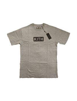 Kith Classic Logo Tee Heather Grey/Black by Stock X