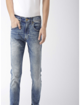 Men Blue Skinny Fit Mid Rise Clean Look Stretchable Jeans 65504 by Levis