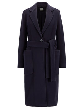 Belted Coat In A Virgin Wool Blend With Cashmere Belted Coat In A Virgin Wool Blend With Cashmere by Boss