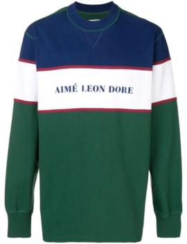 Sweatshirt In Colour Block Optik by Aimé Leon Dore