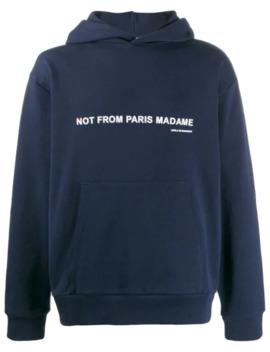 'nfpm' Kapuzenpullover Mit Slogan by Drôle De Monsieur
