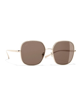 Chanel Square Sunglasses Ch4252 Gold/Brown by Chanel