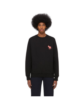 Black Embroidered Zebra Sweatshirt by Ps By Paul Smith