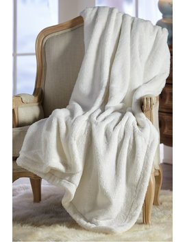 Brillante Faux Fur Throw by Soft Surroundings