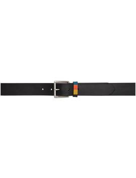 Black Bright Keeper Belt by Paul Smith