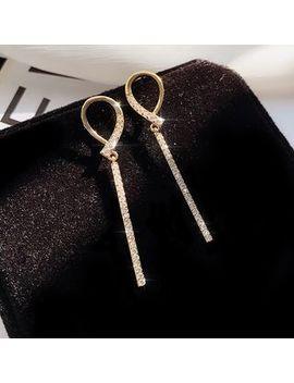 Miasip   Rhinestone Bar Dangle Earring by Miasip