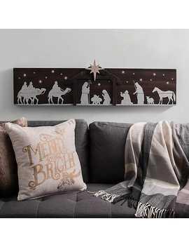 Pre Lit Nativity Scene Wood Plaque by Kirkland's