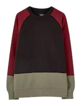 Mit Colour Block Design   Sweatshirt by Pull&Bear