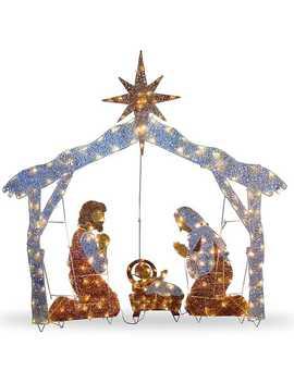 Pre Lit Crystal Sisal Nativity Scene by Kirkland's