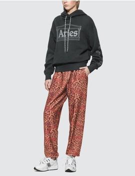 Leopard Chain Fleece Pants by Aries