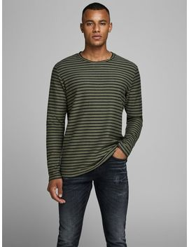 Striped Long Sleeved T Shirt Faux Fur Parka Coat  Ace Milton Cord Akm 760 Chinos  Striped Long Sleeved T Shirt  Faux Leather Sneakers by Jack & Jones