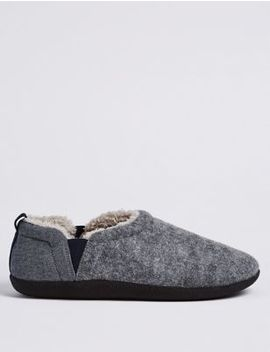 Slip On Slippers With Freshfeet™ by Marks & Spencer