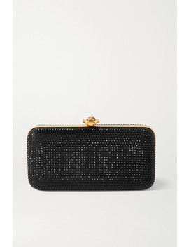 Crystal Embellished Satin Clutch by Versace