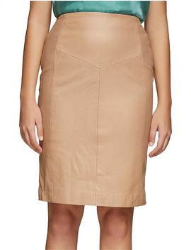 Claudia Leather Skirt by Oxford