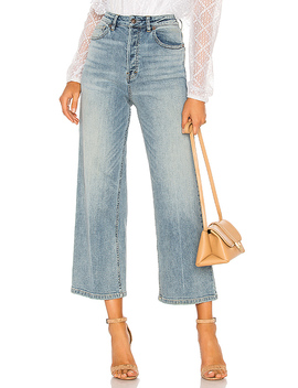 Wales Wide Leg Jean In Blue by Free People