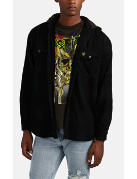 Snoop Dogg Cotton Hooded Shirt Jacket by Madeworn