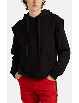 Cotton French Terry Layered Hoodie by Amiri