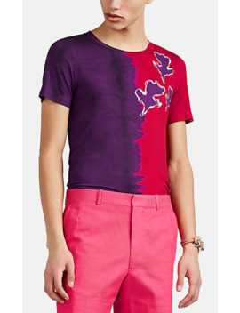 Abstract Floral Gradient Jersey T Shirt by Prabal Gurung