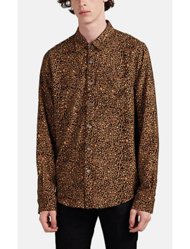 Leopard Print Cotton Cashmere Shirt by Amiri