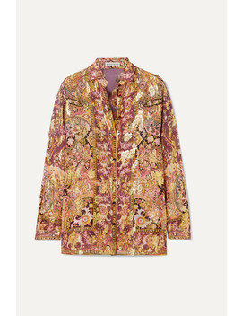 Printed Fil Coupé Silk Blend Georgette Shirt by Etro