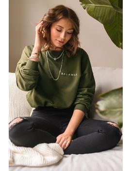 Balance Sweater Grön by Niccihernestigxnakd
