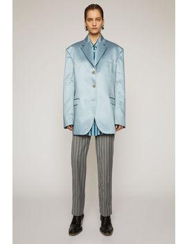 Satin Suit Jacket Powder Blue by Acne Studios