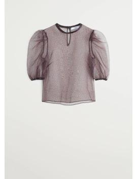 T Shirt I Organza Ballongärm by Mango