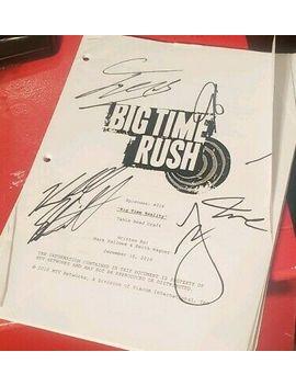 Big Time Rush Signed Script ( James, Kendall, Logan, Carlos) by Ebay Seller