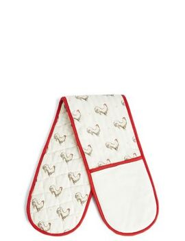Hen Print Double Oven Glove by Marks & Spencer