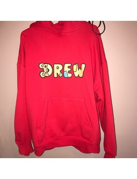 Drew House Red Teddy Hoodie by Drew House