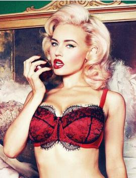 Playful Promises Cordelia Lace Overlay Balcony Bra (Dd G Cups) Ppfb103 by Playful Promises