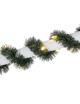 25 Ft. Pre Lit Led Artificial Christmas Roping Garland With 50 Color Changing C4 Lights by Home Depot