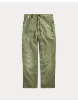 Relaxed Fit Distressed Trouser by Ralph Lauren