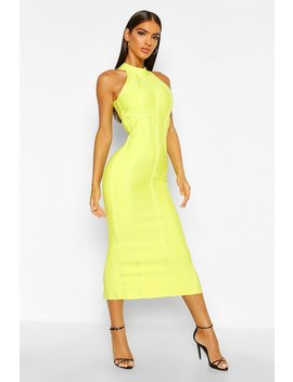 Boutique Contouring Bandage Halterneck Midaxi Dress by Boohoo
