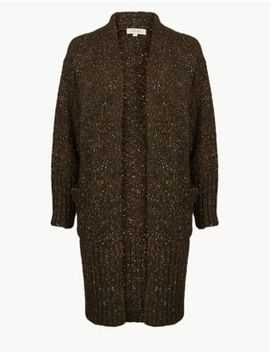 Neppy Longline Cardigan by Marks & Spencer