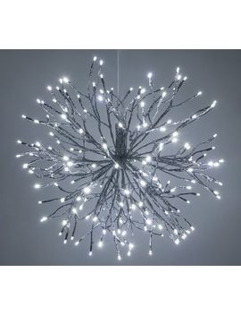Light Up Led Hanging Starburst   Silver by Pottery Barn