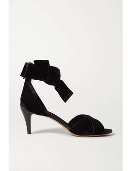 Chris Bow Embellished Velvet And Patent Leather Sandals by Chloé