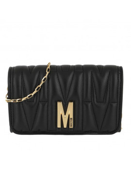Chain Wallet Black Fantasy Print by Moschino