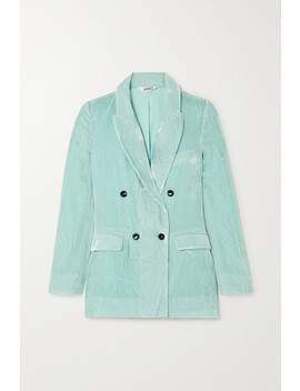 Jane Bond Double Breasted Crushed Velvet Blazer by Sleeping With Jacques