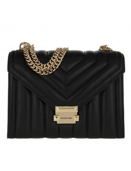 Whitney Large Shoulder Bag Black by Michael Kors