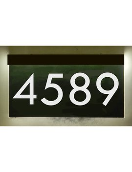 1 Line Led Address Sign With Solar Panel by Ez Street Signs