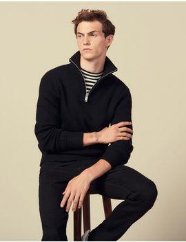 Trucker Style Sweater by Sandro Paris