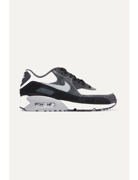 Air Max 90 Qs Snake Effect Leather And Suede Sneakers by Nike