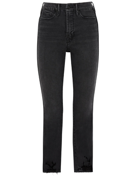 Good Straight Grey Straight Leg Jeans by Good American