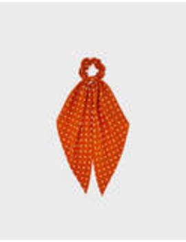 Polka Dot Scrunchie With Bow by Bershka