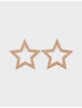 Star Earrings With Shimmer by Bershka
