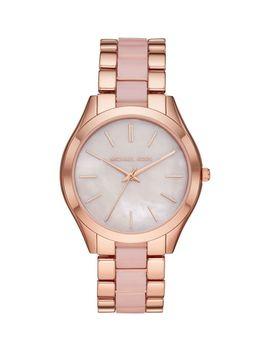 Slim Runway 3 Hand Rose Goldtone Bracelet Watch by Michael Kors