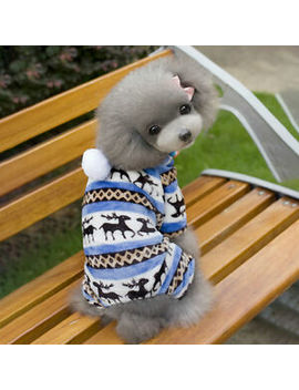 Puppy Dog Winter Jumpsuit Clothes Fleece Cute Pet Jumpers Hoodie Coat Christmas by Ebay Seller