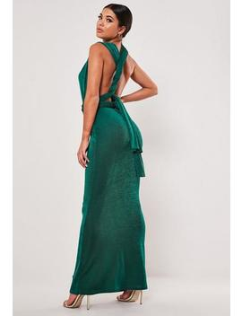 Teal Slinky Multiway Maxi Dress by Missguided